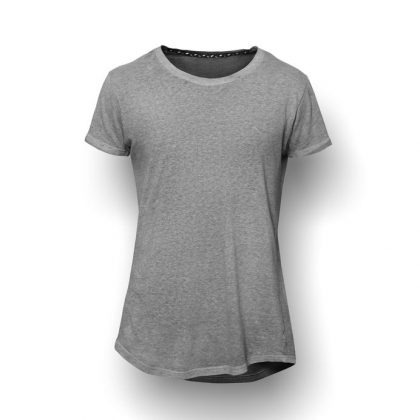 43153772 - dark grey t-shirt isolated on white wall background